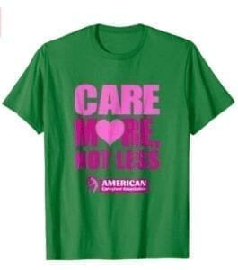 care more not less-pink