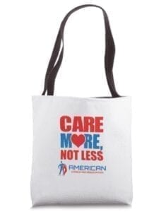 care more not less-tote