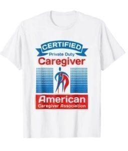 cpd caregiver white tee